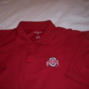 Antigua Shirts - Ohio State Buckeyes Antigua Golf Polo Shirt